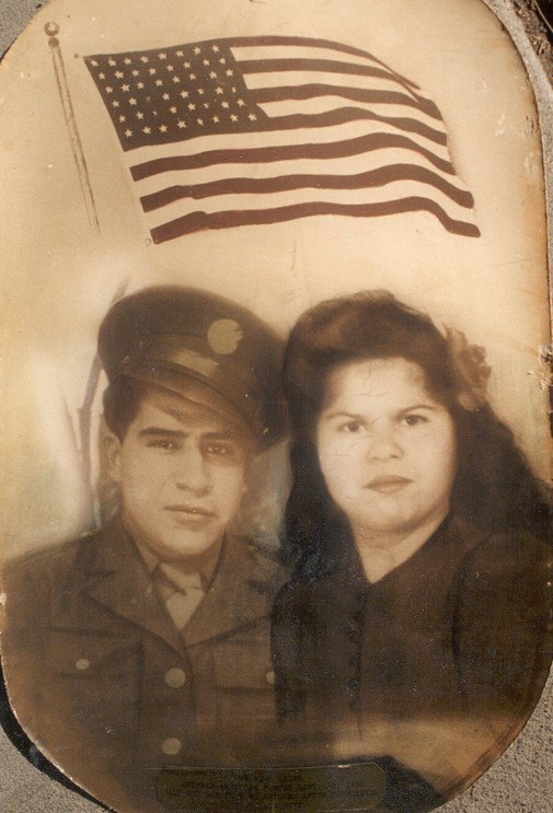 Dad and Mom Military Picture